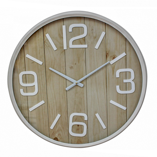 Natural Wooden Wall Clock