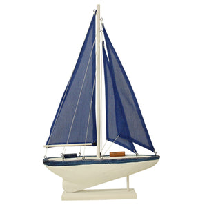 Navy Decorative Sailing Boat