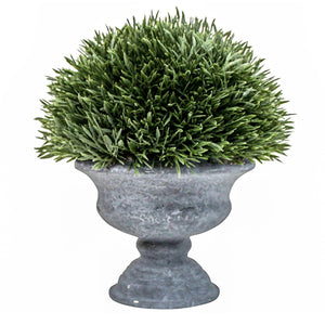 Spiked Grass Potted Plant in Urn