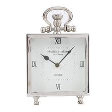Square Nickel Mantel Clock