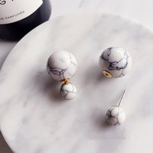 Marble Ball Earrings