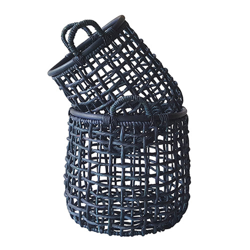Navy Weaved Basket