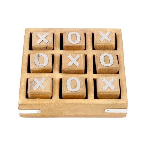 Wooden Tic Tac Toe - Natural