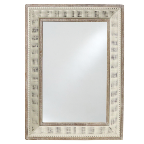 Natural Wood Detailed Mirror