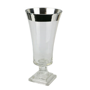 Silver Band Glass Vase