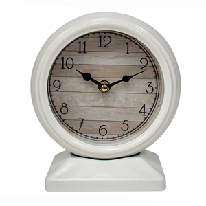 White Table Clock