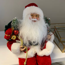 Red White Sitting Santa (30cm)