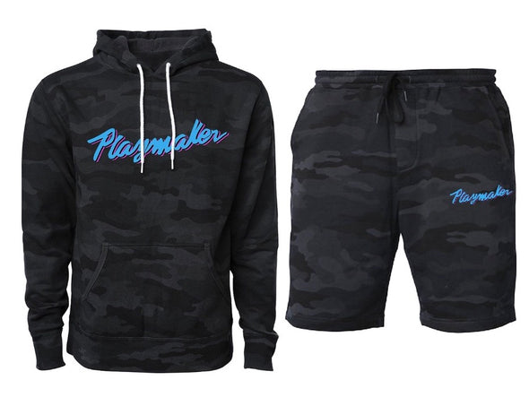 Vice Black Camo Bundle (Hoodie & Shorts)