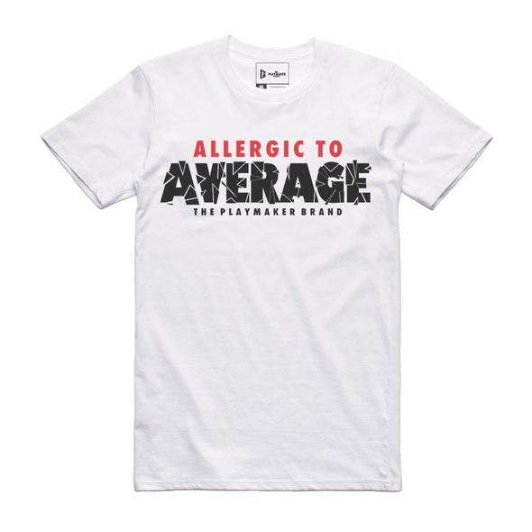 Allergic To Average Tee (White)