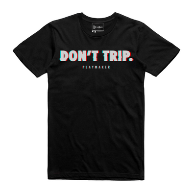 "Don't Trip ""Glitch"" Illusion Tee (Black)"