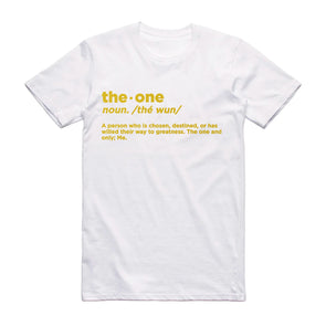 The One Definition Metallic Gold T-Shirt