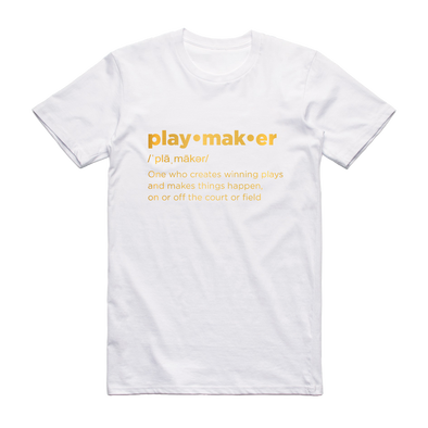 "Playmaker ""Definition"" Metallic Gold Tee"
