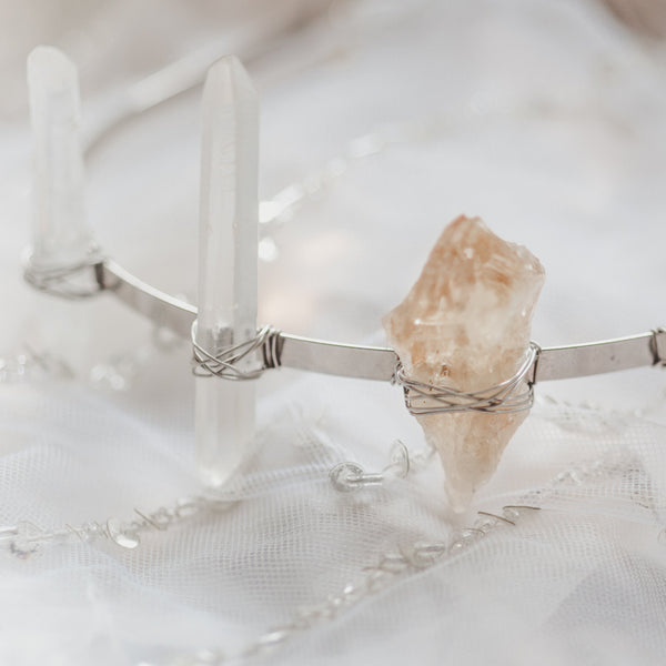 Raw Crystal Rays Tiara