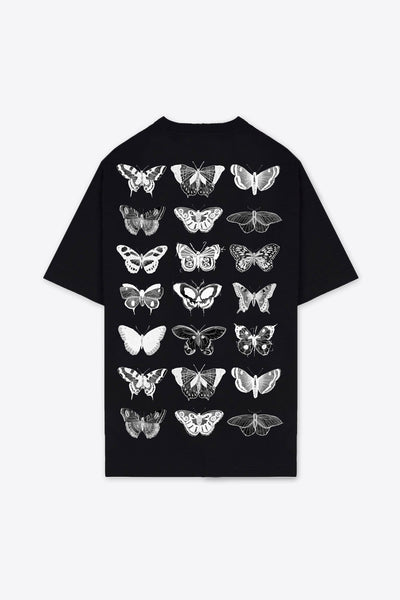 21 Butterflies T-Shirt Dress (Black)