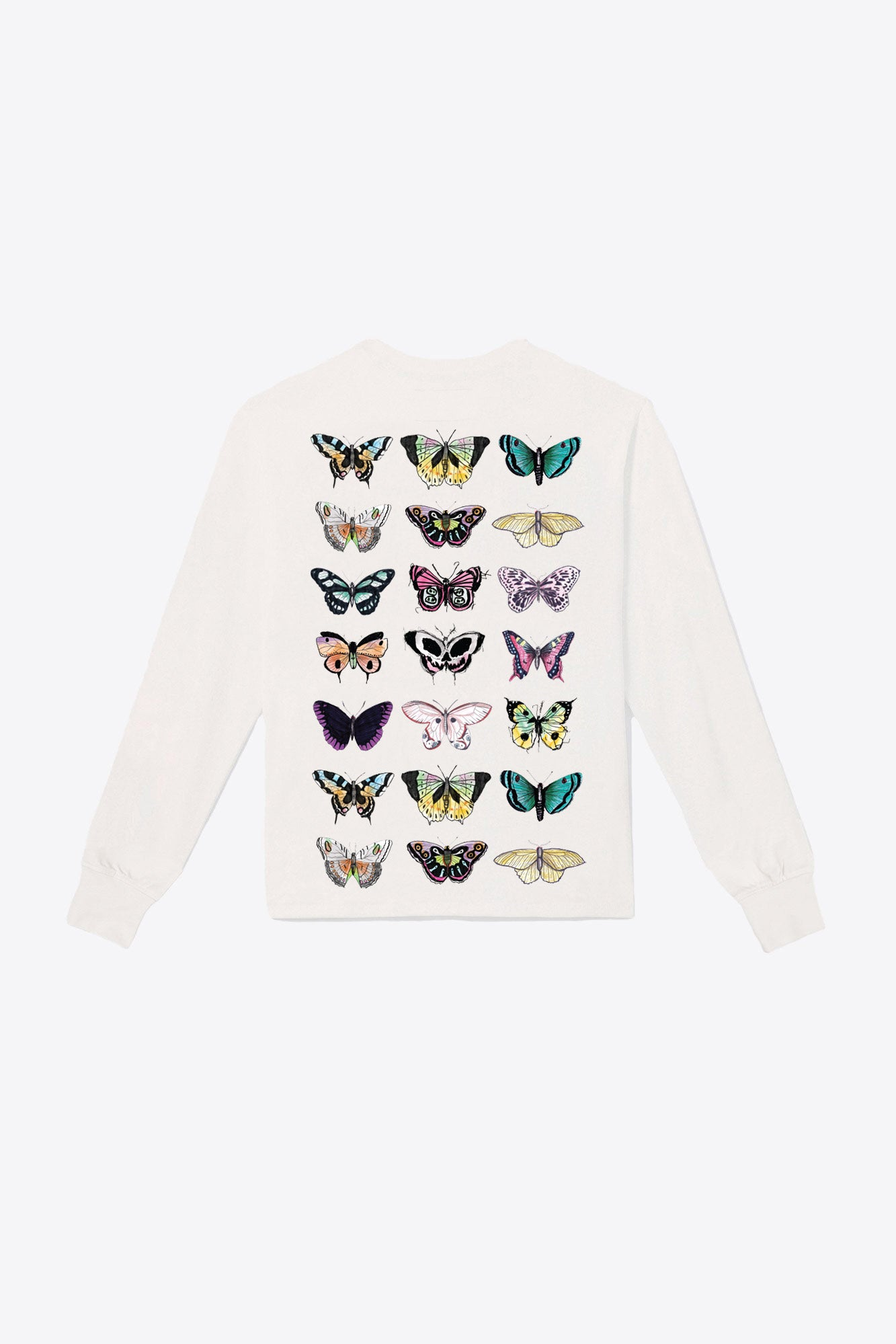 21 Butterflies Pocketed L/S Tee (Chalk)