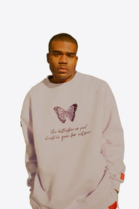 Violet Butterfly Feels Crewneck