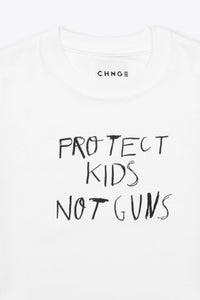 CHNGE Kids Protect Kids Not Guns Tee