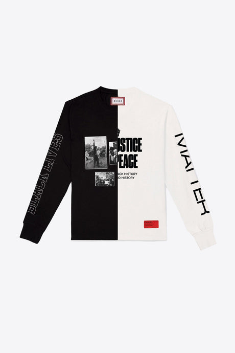 BHM Split L/S T-Shirt (Black/Chalk)