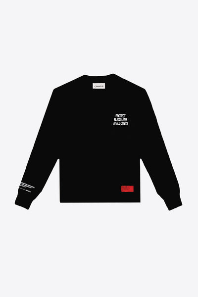 No Justice Long Sleeve (Black)
