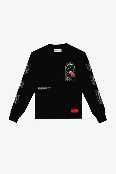 8 Minutes 46 Seconds Long Sleeve (Black)