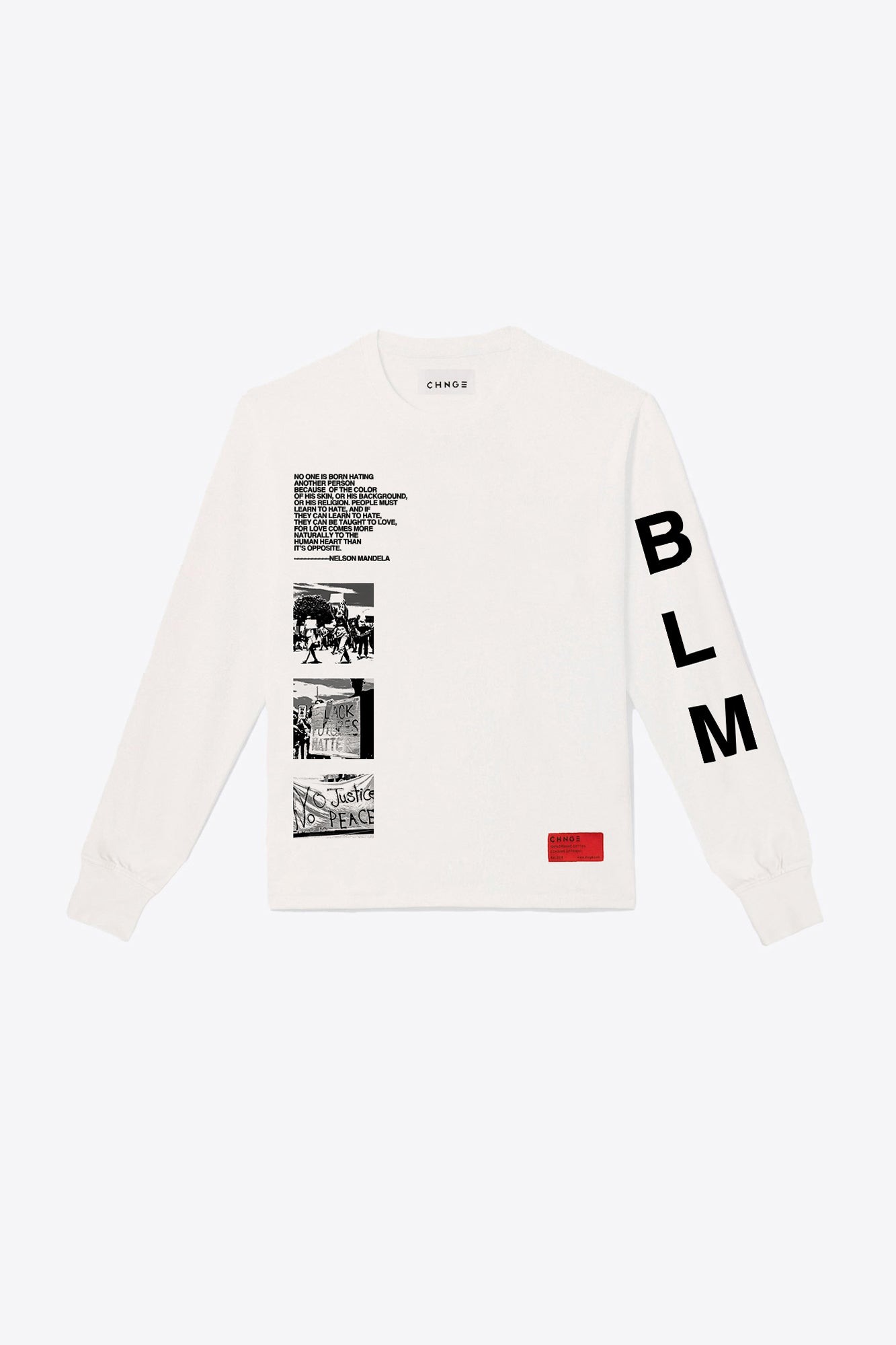 BLM Sleeve Print Long Sleeve (Chalk)