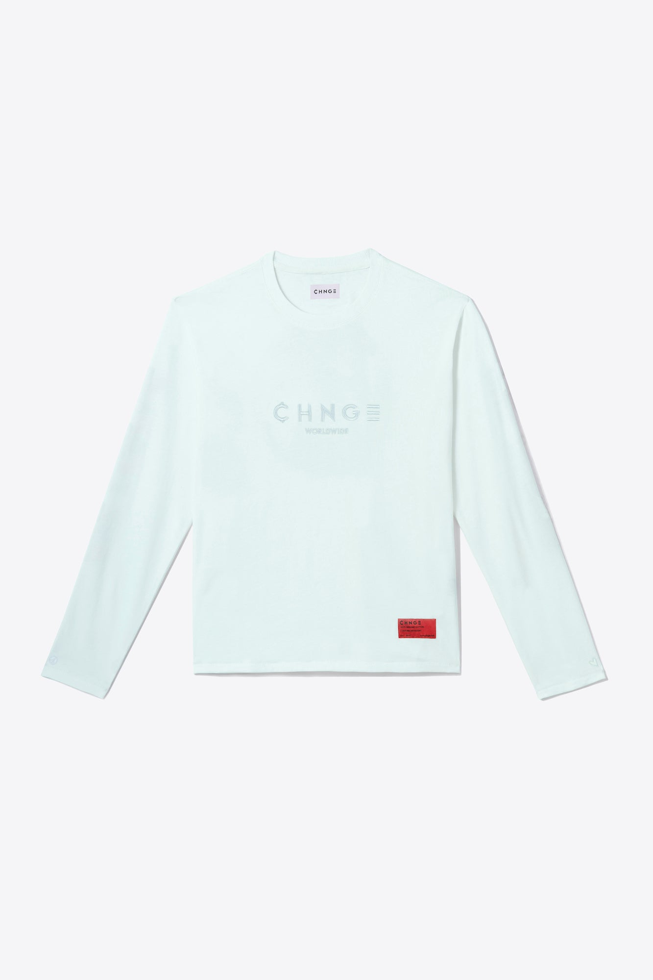 Mint Tonal Embroidered Long Sleeve
