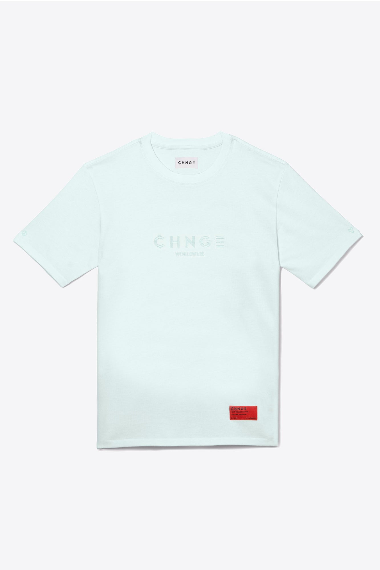 Mint Tonal Embroidered Tee