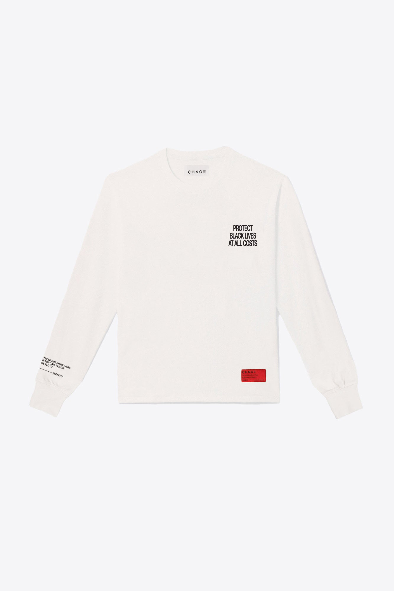 No Justice Long Sleeve (Chalk)
