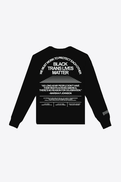 Black Trans Lives Matter Long Sleeve