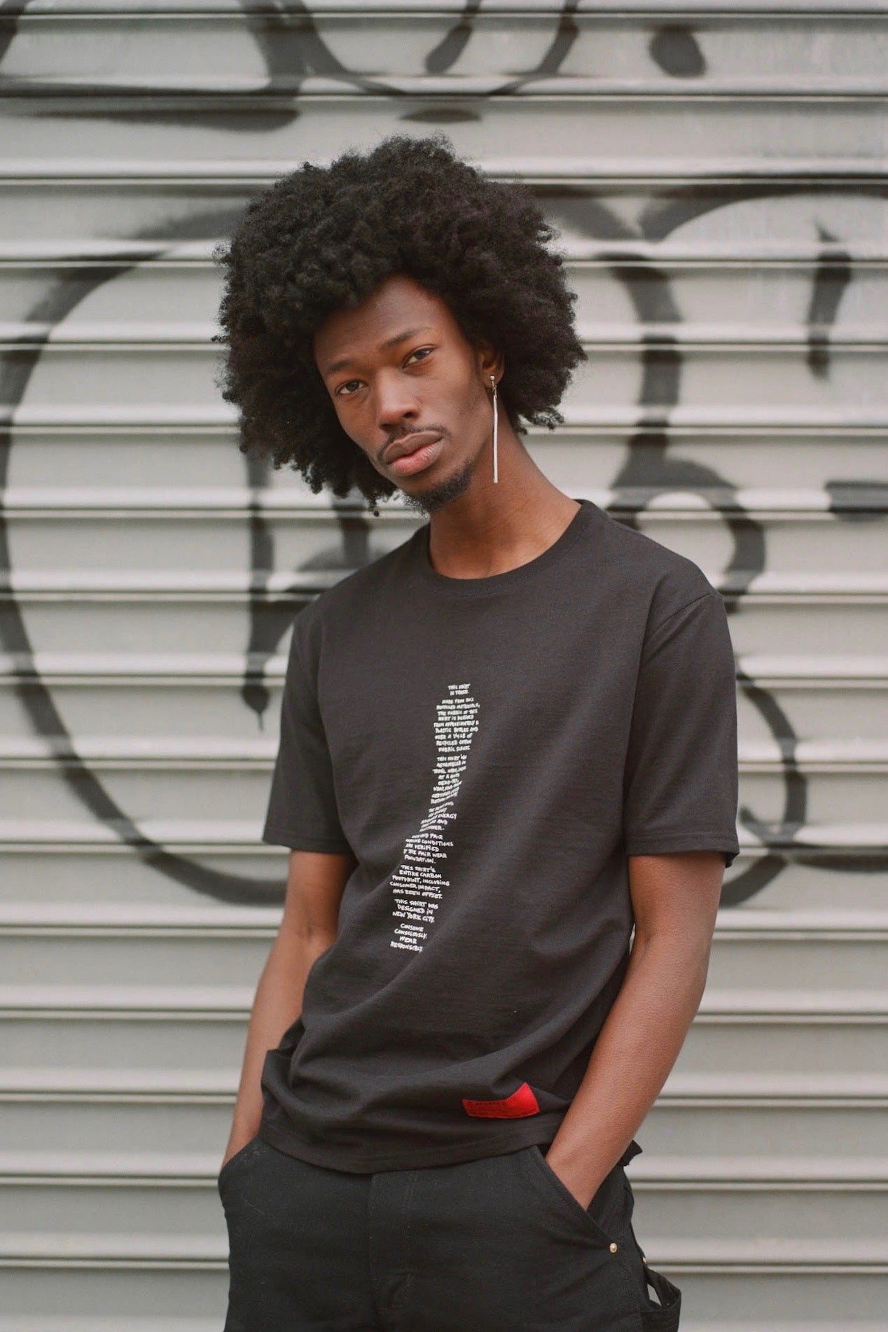 Transparency Zero Waste Tee (Black)