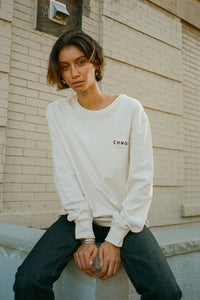 WDOYS Pocketed L/S Tee (Chalk)