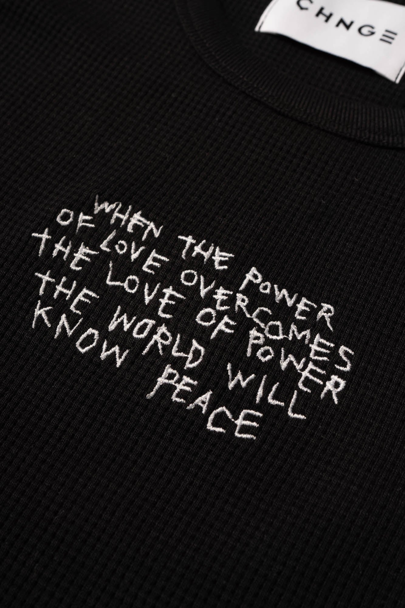 Power of Love Ribbed Tank (Black)