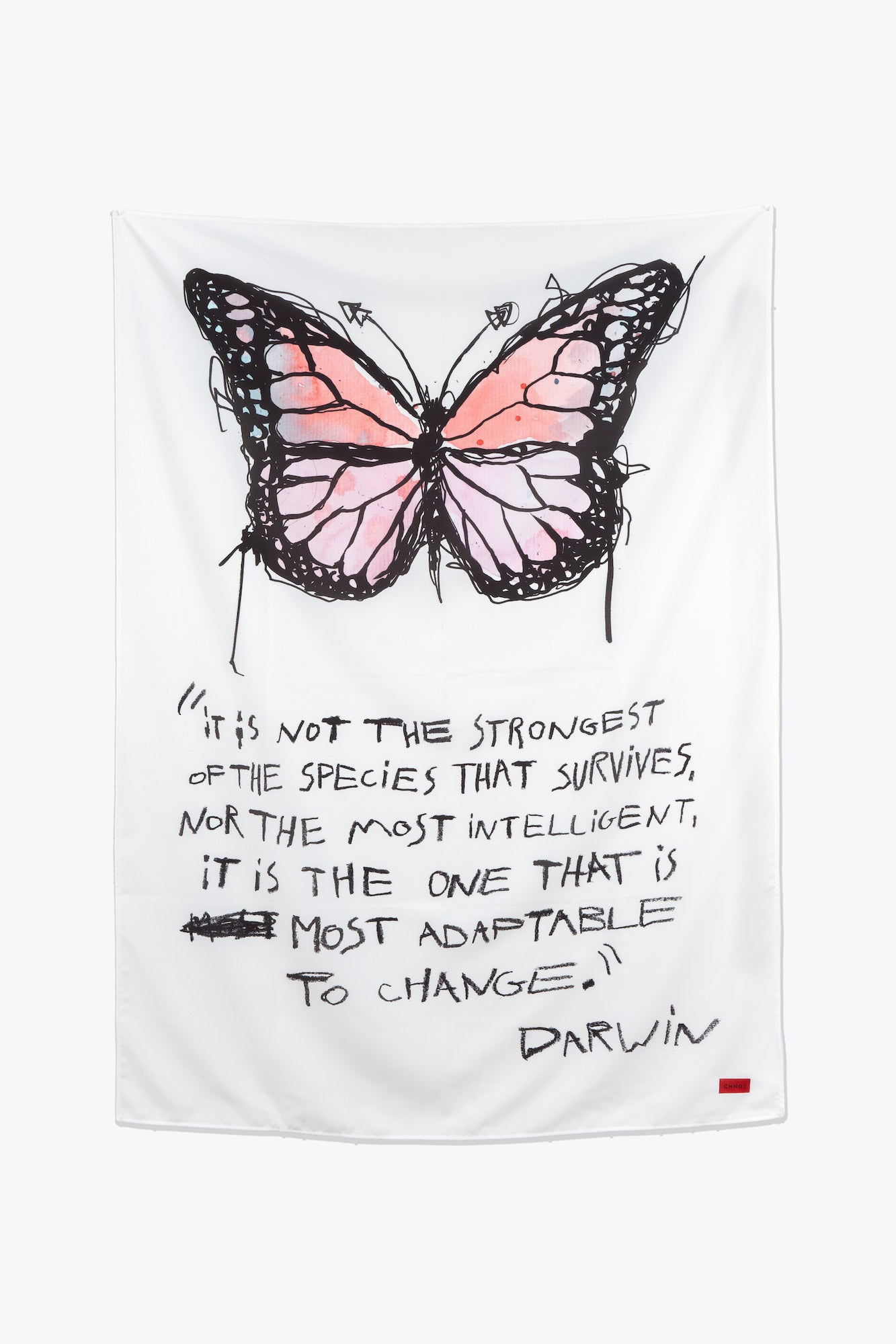 Butterfly Darwin Tapestry (White)