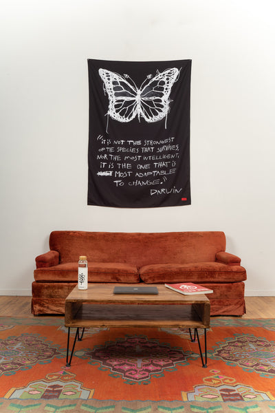 Butterfly Darwin Tapestry (Black)