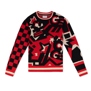 Pattern Logo Sweater