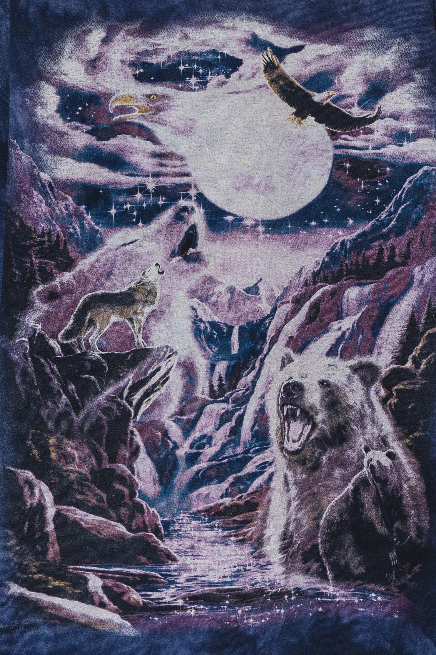 Tie Dye Creatures of the Moon Tee - XL