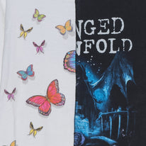 Avenged Sevenfold & Butterfly Pieced Together Tee - L