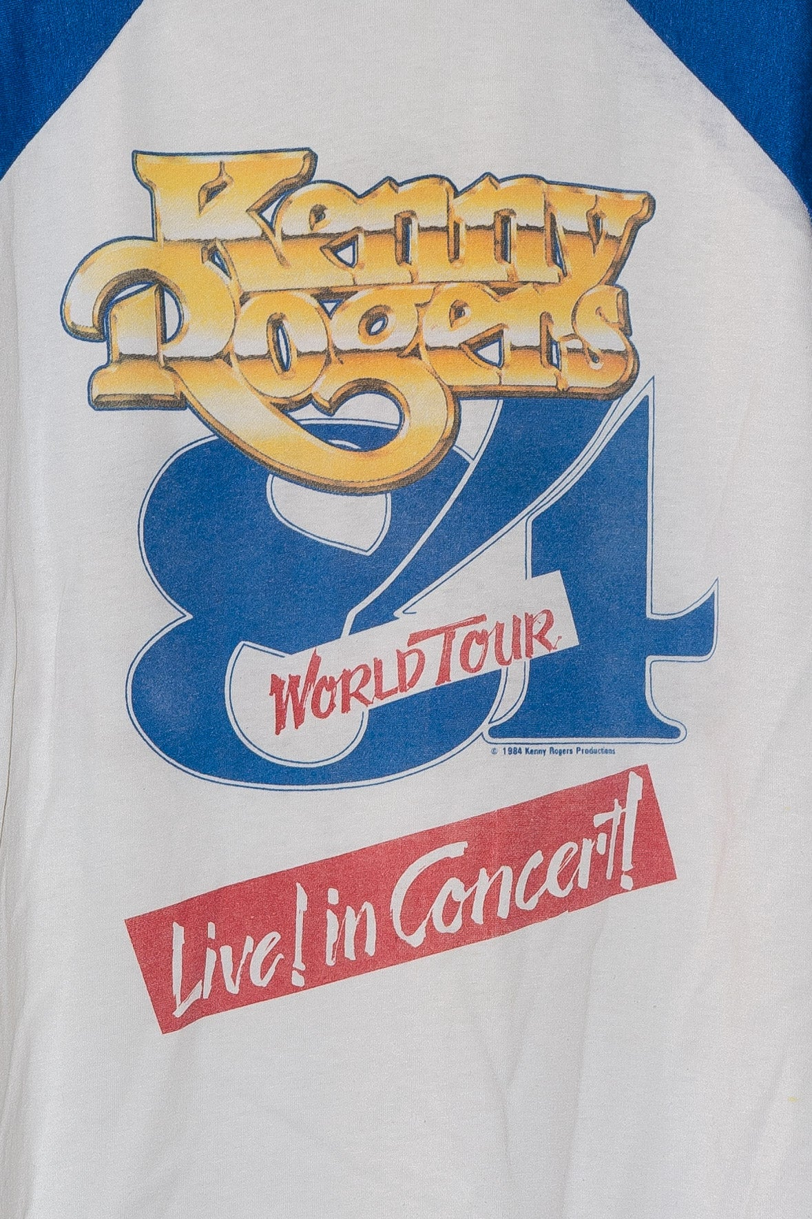 '84 Kenny Rogers World Tour Tee - XS
