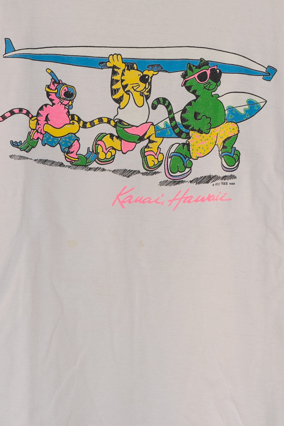 '88 Cat Surf Kauai Hawaii Tee - XXS