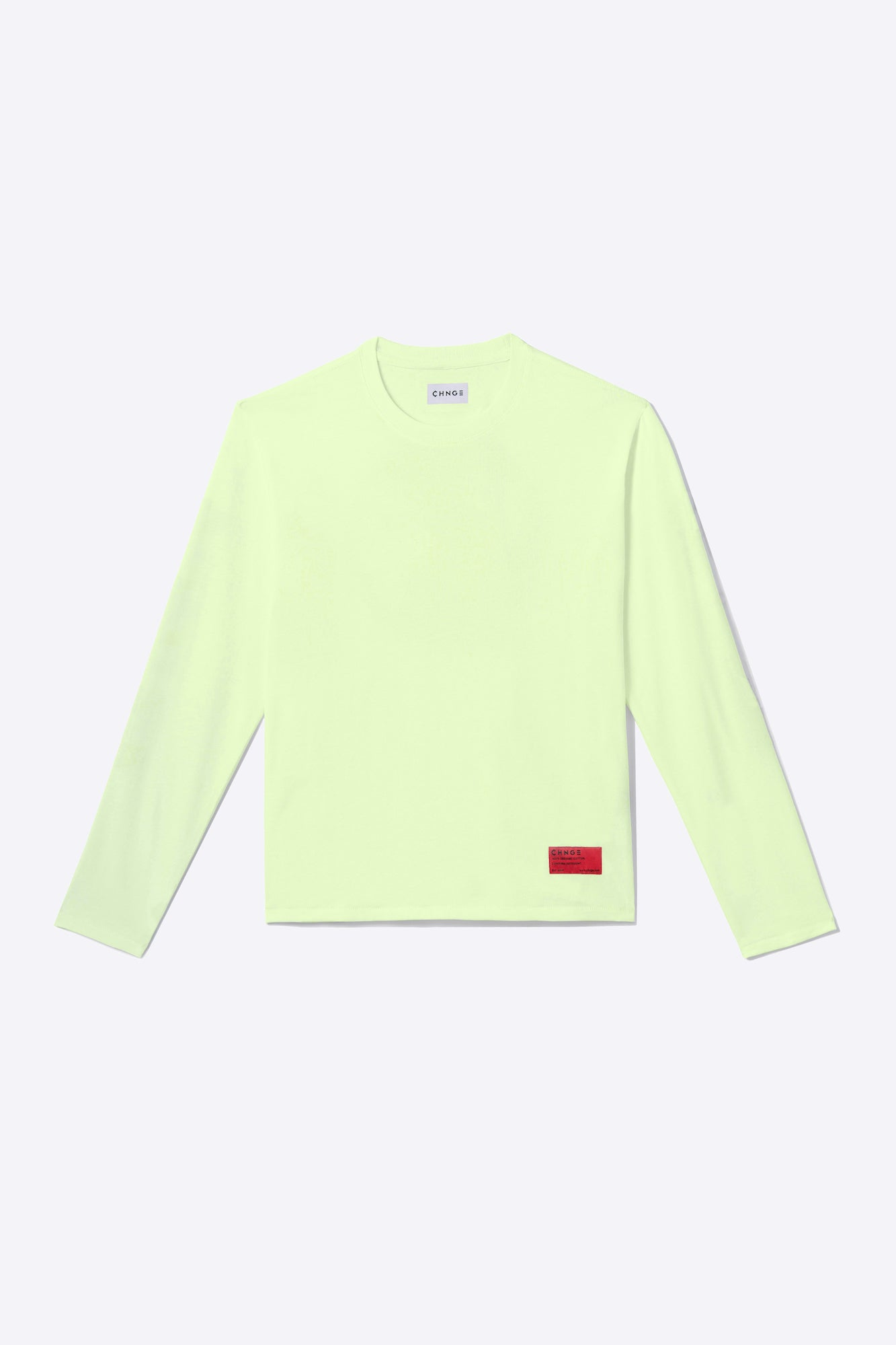 Pale Lime Organic Cotton Long-Sleeve