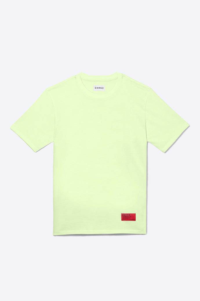 Pale Lime Organic Cotton Tee