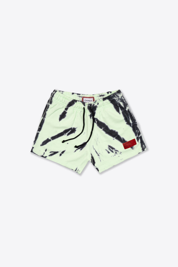 Lime/Black Tiger Tie Dye Sweatshorts