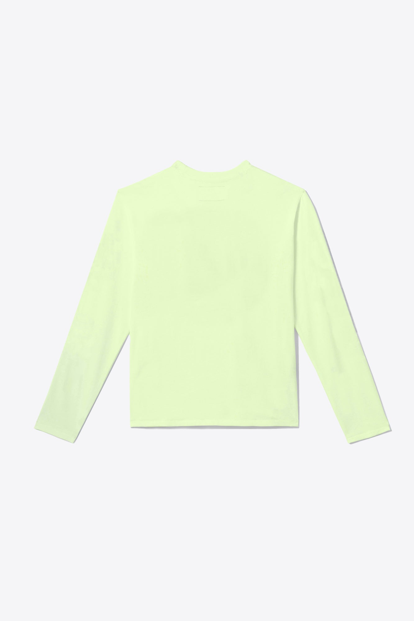 Pale Lime Tonal Embroidered Long Sleeve