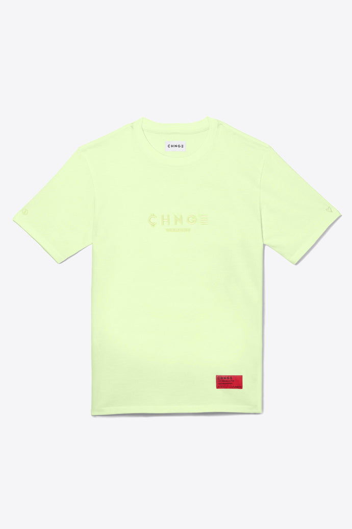 Pale Lime Tonal Embroidered Tee