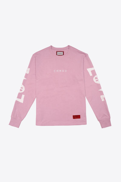 Love Peace Cuffed L/S T-Shirt (Mauve)