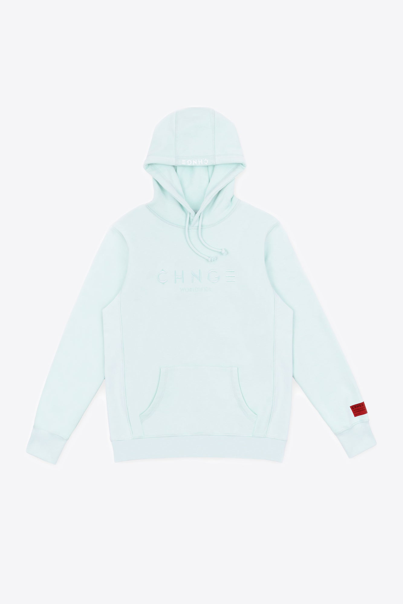 Mint Tonal Embroidered Hoodie