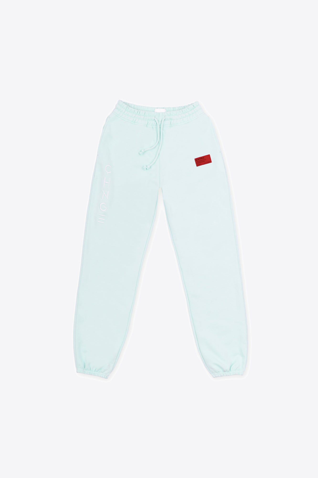 Mint Tonal Embroidered Sweatpants