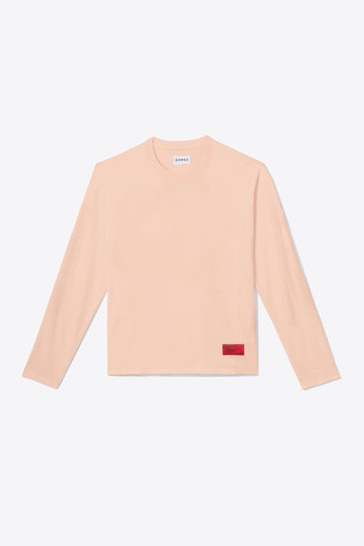 Pale Orange Organic Cotton Long-Sleeve