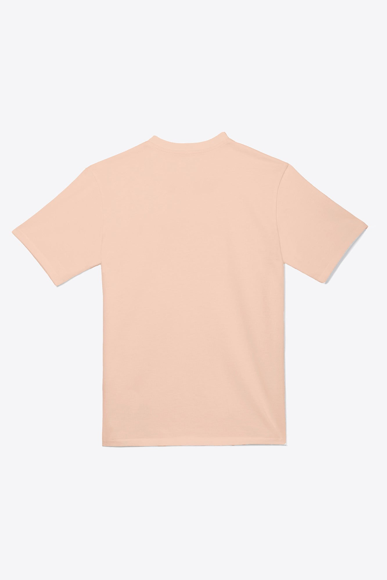 Pale Orange Tonal Embroidered Tee