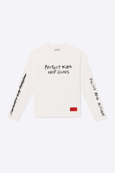 Kids Not Guns Long Sleeve (Chalk)